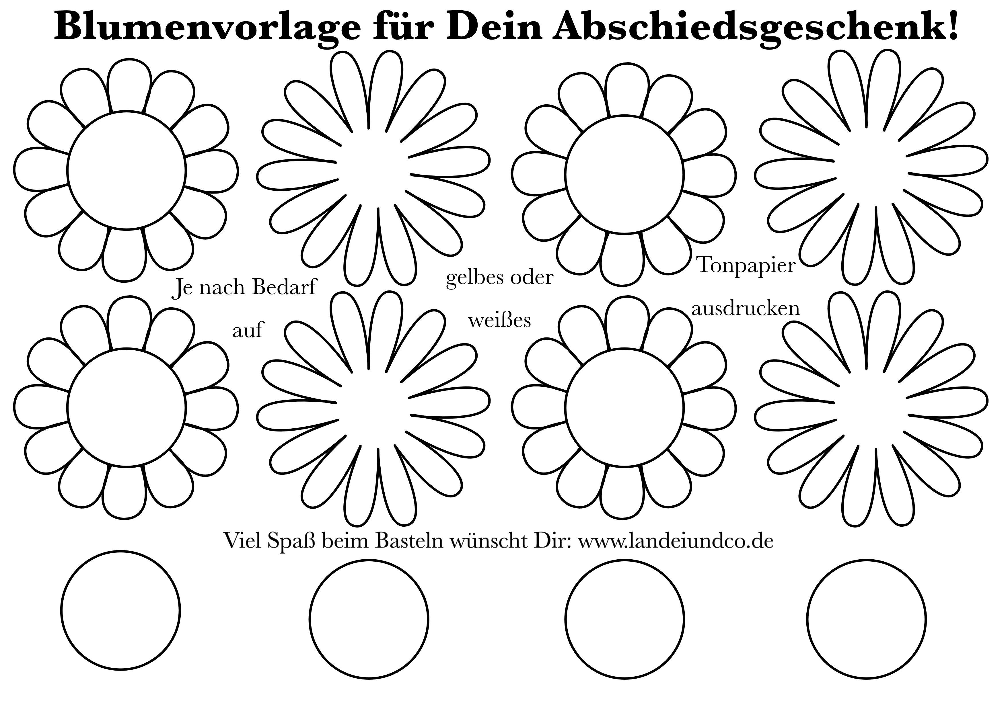 Sonnenblume Basteln Aus Papier Vorlage Zum